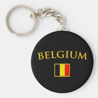 Goldenes Belgien Standard Runder Schlüsselanhänger
