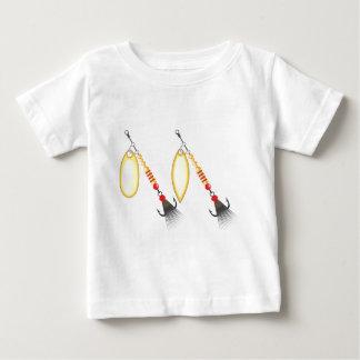 Goldenes Blatt und ovale Form entwerfen Baby T-shirt