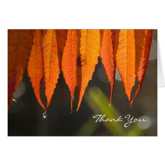 Goldenes Blätter dankt Ihnen Karte
