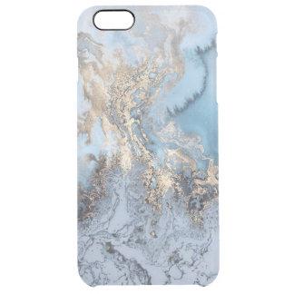 Goldenes blaues abstraktes Marmorierungiphone 6/6S Durchsichtige iPhone 6 Plus Hülle