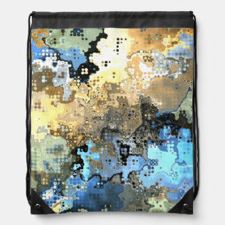 Goldenes blaues abstraktes turnbeutel