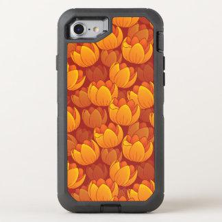Goldenes Blumen-Muster OtterBox Defender iPhone 8/7 Hülle