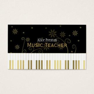 Goldenes Blumenklavier des Musik-Lehrer-| Visitenkarte
