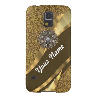 Goldenes braunes Strudelmuster Hülle Fürs Galaxy S5