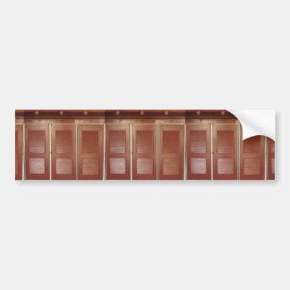 Goldenes Brown-Gebäude-Innendekorationen Autoaufkleber