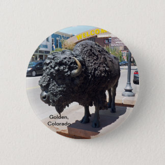 Goldenes Colorado Runder Button 5,7 Cm