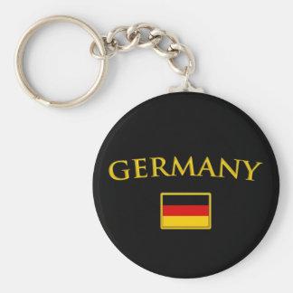 Goldenes Deutschland Standard Runder Schlüsselanhänger
