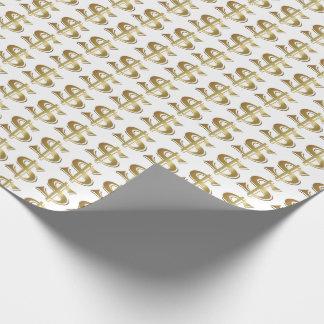Goldenes Dollar-Zeichen-Packpapier Geschenkpapier