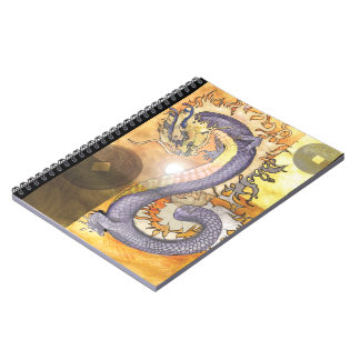 Goldenes Dragon~notebook Spiral Notizblock