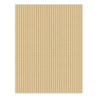 GOLDENES Dreieck-Streifen-Muster von ein Juwel Postkarte