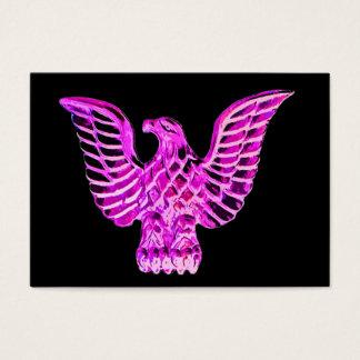 Goldenes Eagle im rosa, lila, schwarzen Visitenkarte