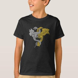 Goldenes Eagle und silberner Drache T-Shirt