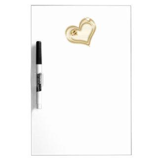 Goldenes Einklebebuch-Herz Trockenlöschtafel