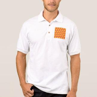 Goldenes Fliesenmuster Polo Shirt