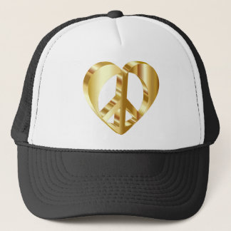 Goldenes Friedenssymbol Truckerkappe