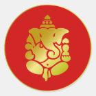 Goldenes Ganesha Runder Aufkleber