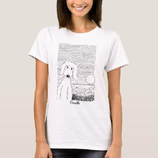 Goldenes Gekritzel auf dem Strand-Shirt T-Shirt