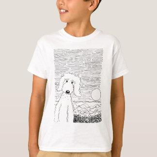 Goldenes Gekritzel auf dem Strand T-Shirt
