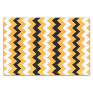 Goldenes Gelb, Schwarzweiss-Zickzack Seidenpapier