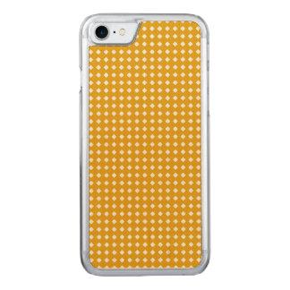 Goldenes gelbes geometrisches Muster - niedliche Carved iPhone 8/7 Hülle