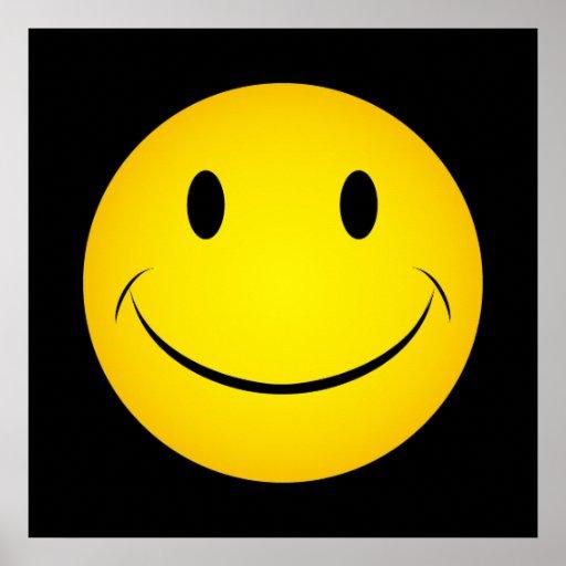 Goldenes gelbes Smiley-Plakat