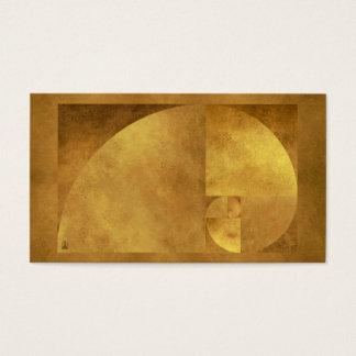Goldenes gemeines visitenkarte