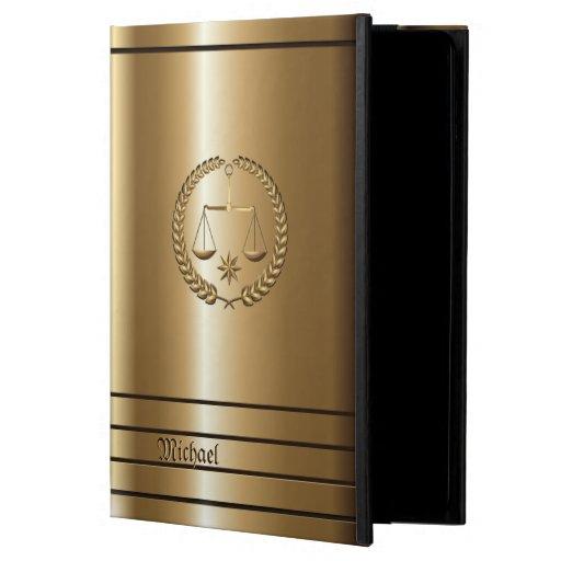 Goldenes Geschäft u. legales Rechtsanwalt-iPad Air