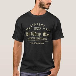 Goldenes gotisches Skript-lustiger Geburtstags-T - T-Shirt