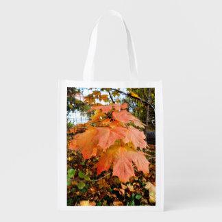 Goldenes Herbst-Blätter Wiederverwendbare Einkaufstasche