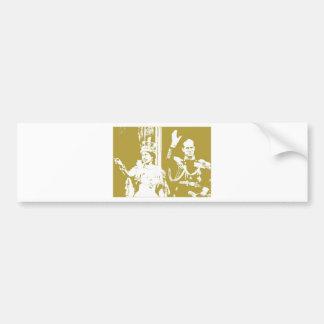 Goldenes Jubiläum der Königin-Elizabeth Retro Autoaufkleber