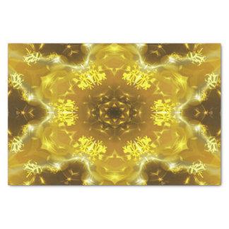 Goldenes Kaleidoskop Seidenpapier