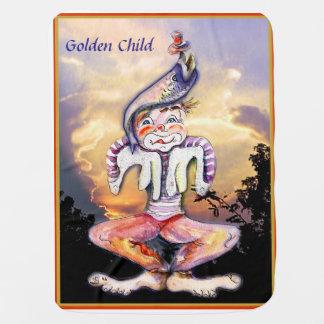 Goldenes Kind Babydecke
