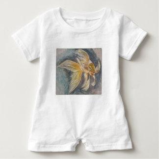Goldenes Koi Baby Strampler