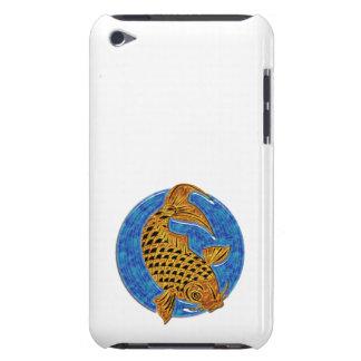 Goldenes Koi im blauen Glasteich iPod Touch Case