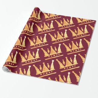 Goldenes Kronen-Packpapier Geschenkpapier
