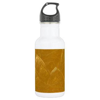 Goldenes Lotus ätzte Muster der Edelstahlflasche