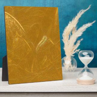 Goldenes Lotus ätzte Muster der Fotoplatte