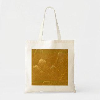 Goldenes Lotus ätzte Muster der Tragetasche