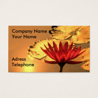 Goldenes Lotus Visitenkarte