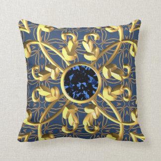 Goldenes metallisches dekoratives der Vintagen Kissen