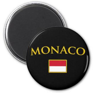 Goldenes Monaco Magnets