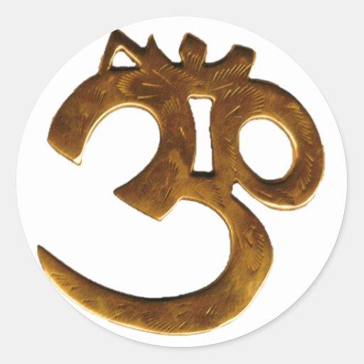 Goldenes OM Runde Sticker