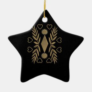 Goldenes Ornament auf schwarzen Hintergrund