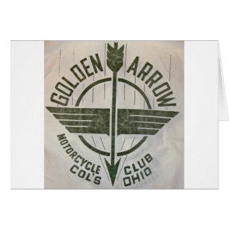 Goldenes Pfeil-Motorrad-Verein-Logo Karten