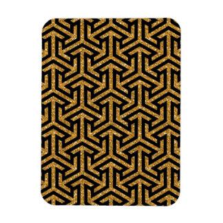 Goldenes Pfeilmuster auf schwarzem Hintergrund Magnet
