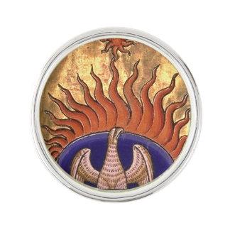 Goldenes Phoenix, das von der Asche steigt Anstecknadel
