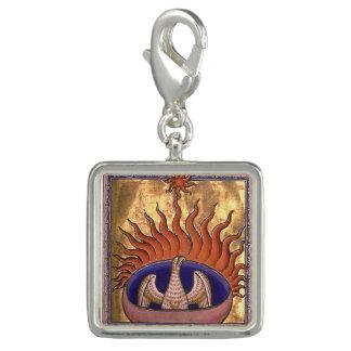 Goldenes Phoenix, das von der Asche steigt Charms