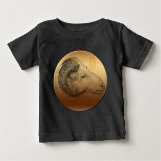 Goldenes RAM-Jahr-chinesisches Baby T-shirt