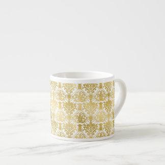 Goldenes schönes barockes stilvolles elegantes espressotasse