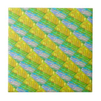 Goldenes Silk seidenes Motiv: Deko-dekorative Fliese